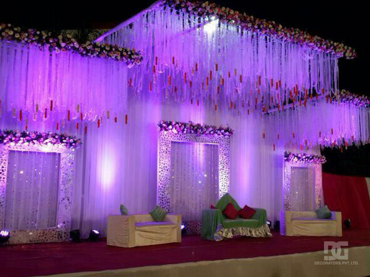 Wedding decoration outdoor stage backdrop for Backdrop decoration ideas
